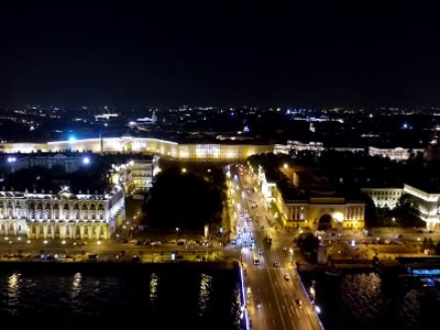 По ночному Санкт-Петербургу на автомобиле